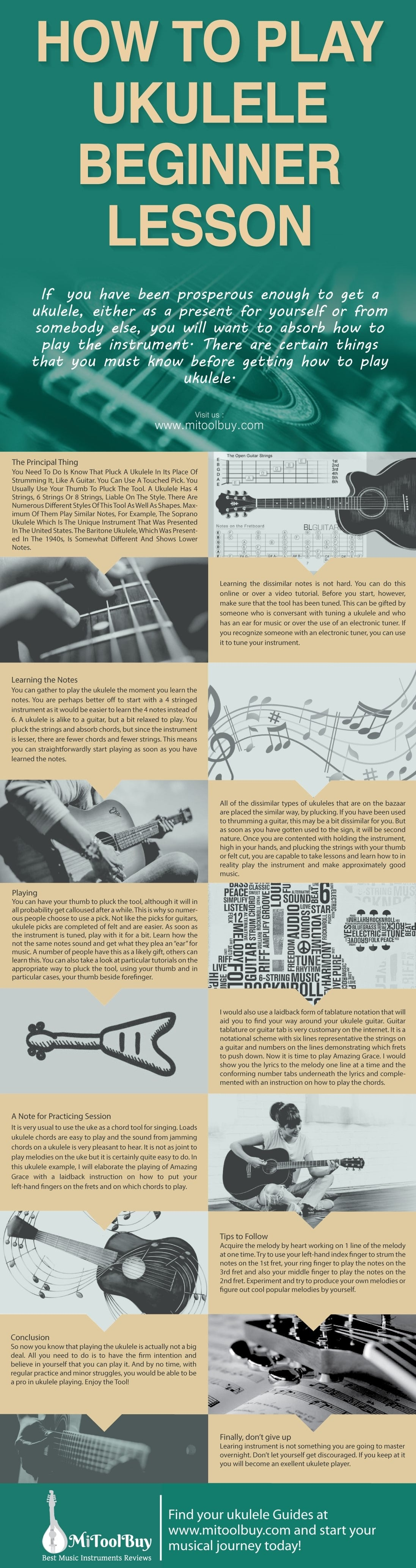 How To Play Ukulele-Infographic