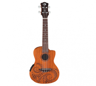 luna tattoo acoustic electric concert ukulele